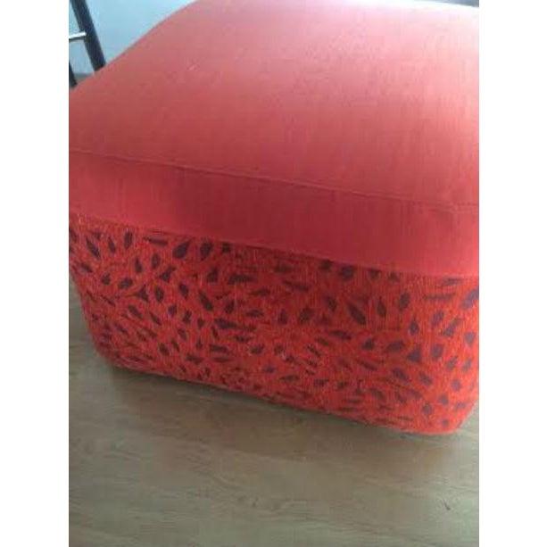 DellaRobbia Kenny Red Ottoman - Image 3 of 4