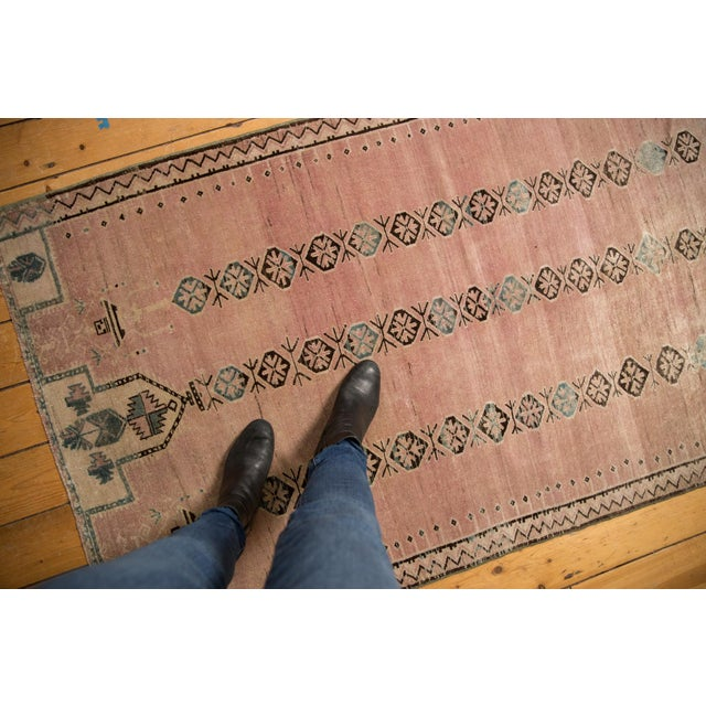 """Old New House Vintage Distressed Belouch Rug - 3'8"""" X 6'7"""" For Sale - Image 4 of 12"""