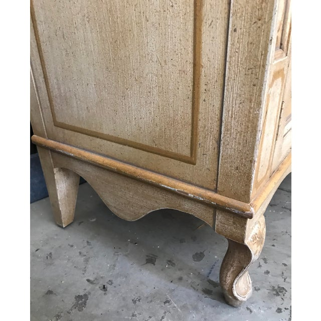 Vintage Baker Furniture Co. Painted Wardrobe Armoire For Sale In Palm Springs - Image 6 of 13