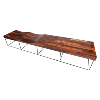 Jorge Zalszupin Brazilian Parquet Jacaranda 102 Bench For Sale