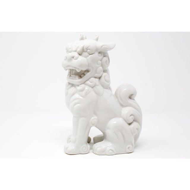 White Vintage Blanc De Chine Foo Dog Figurine For Sale - Image 8 of 12