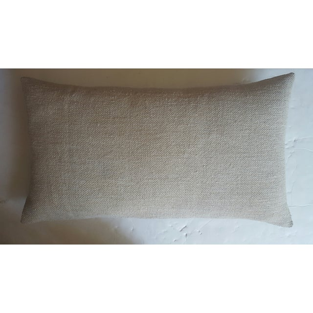 French Aubusson & Hemp Pillow - Image 3 of 3