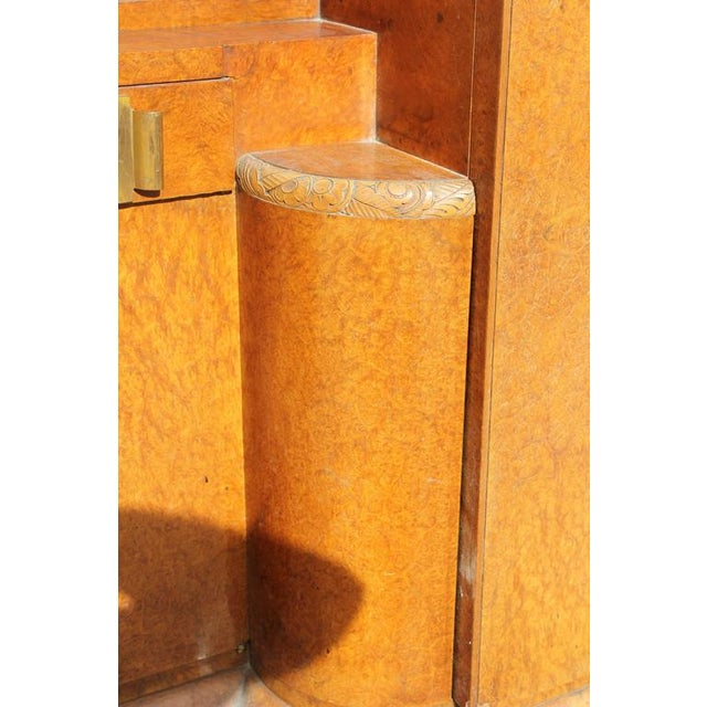 Monumental French Art Deco Burl Amboyna Vanity Armoire Circa 1940s - Image 4 of 8
