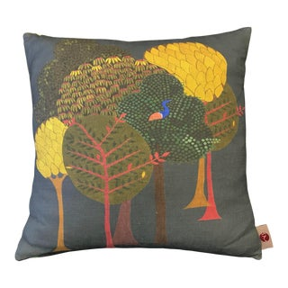 "20"" Pillow in Enchanted Fabric, Midnight Blue For Sale"