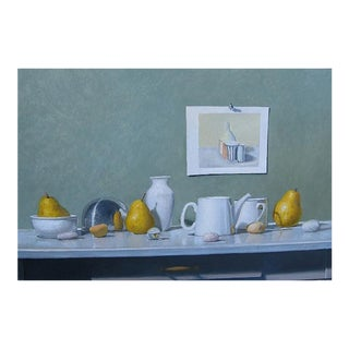 """""""Still Life with Giorgio"""" Original Oil on Board by Eric Forstmann For Sale"""
