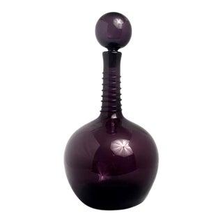1950s Vintage Joel Myers Blenko Purple Amethyst Decanter For Sale
