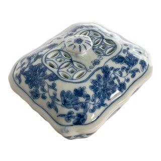 Pierced Lidded Soap Dish For Sale