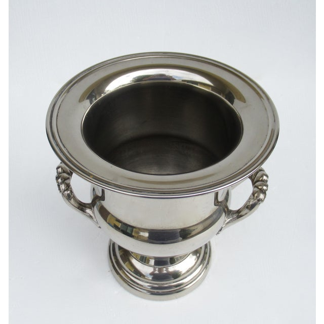 Metal Vintage Silverplate Handled Champagne/Wine Bucket Holder For Sale - Image 7 of 13
