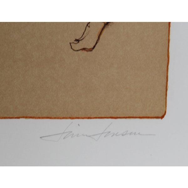 "Jim Jonson, ""Female Dancer,"" Lithograph - Image 2 of 2"