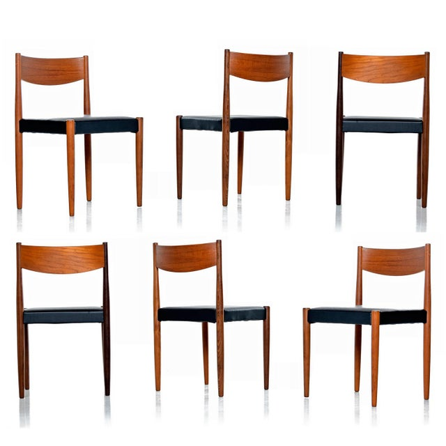 Metal Danish Modern Rosewood & Teak Dining Chairs For Sale - Image 7 of 7