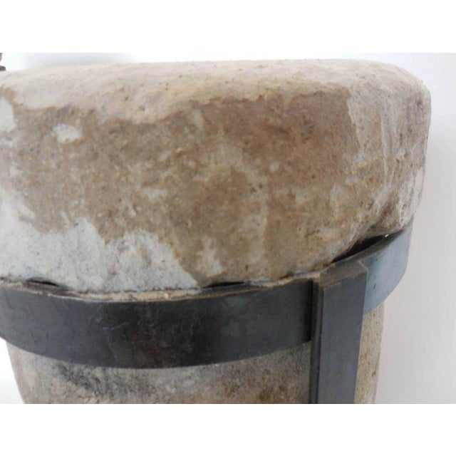 Pair of 19th Century Stone Water Filters on Bases For Sale - Image 9 of 10
