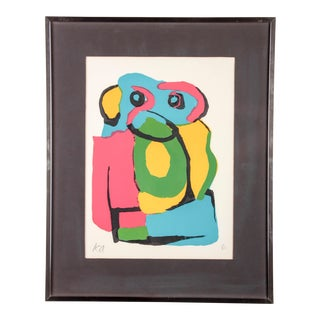 Karel Appel Signed Lithograph, Framed