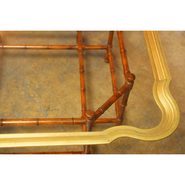 Baker Bamboo and Brass Tray Top Coffee Table - Image 10 of 10