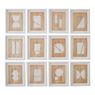 Josh Young Design House Blanc Géométrique Collection Paintings - 12 Pieces For Sale