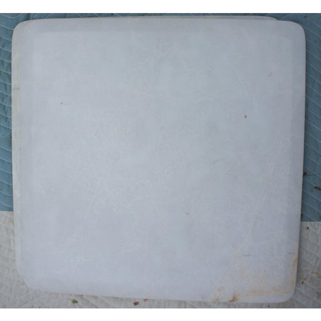 Mid-Century Modern Italian Carrara Marble Square End Table For Sale - Image 4 of 11