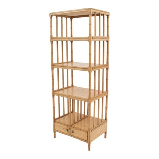 English Regency '19th Century' Faux Bamboo Étagère For Sale