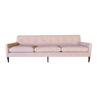 Walnut Framed Three-Seat Sofa Designed by Paul McCobb for Directional C. 1950s For Sale