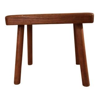 Antique Handmade Wood Foot Stool/Bench