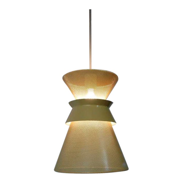 Large Perforated Double Cone Pendant by Gerald Thurston For Sale