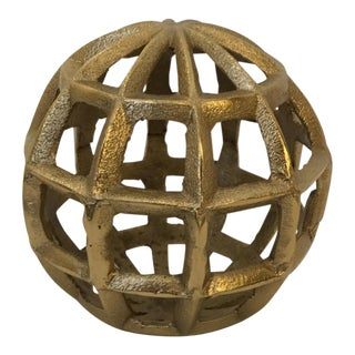 Organic Modern Gold Marble Round Object D'arte