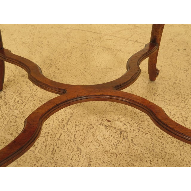 1990s Drexel - Heritage French Style Walnut Occasional Table For Sale - Image 5 of 8