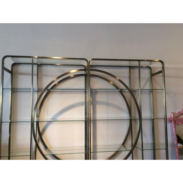 Design Institute of America Milo Baughman Vintage Brass Etagere Shelves - A Pair - Image 6 of 11