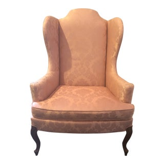 Traditional Upholstered Wingback Chair by Drexel Heritage For Sale