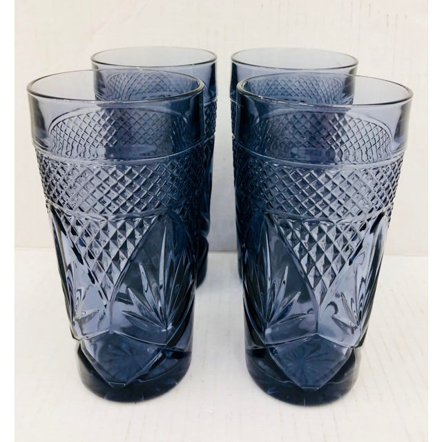 Vintage Set Cut Glass Tumblers For Sale - Image 4 of 5