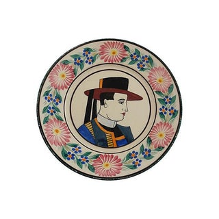 Quimper Faience Plate For Sale