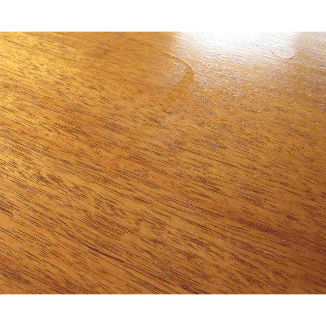 Red Scandinavian Modern Teak Centre Table For Sale - Image 8 of 11