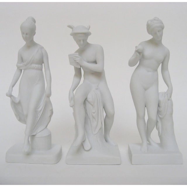 White Bing & Grøndahl Bisque Figurines, Set of 3 For Sale - Image 8 of 8