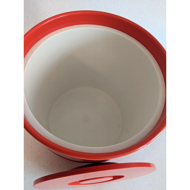 Vintage Orange Heller Ice Bucket by Sergio Asti For Sale In New York - Image 6 of 9