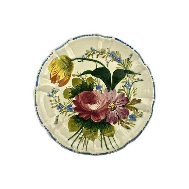 Ceramic Italian Cake & Dessert Plates- Set of 5 For Sale - Image 7 of 9