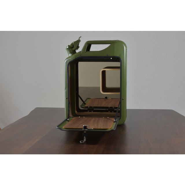 2010s Danish Fuel Army Green Bar Cabinet For Sale - Image 5 of 10