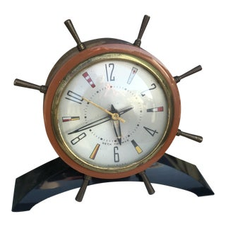 Seth Thomas Nautical Ship Wheel Clock