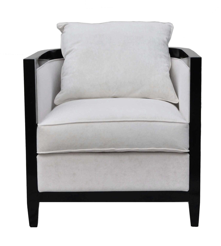An Art Deco inspired vintage tub chair with  sc 1 st  Chairish & Art Deco Chevron Velour Tub Chair | Chairish