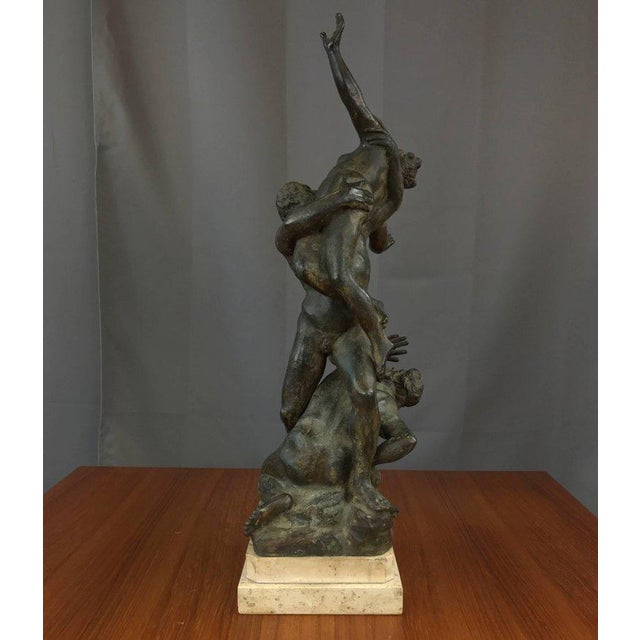 """""""Abduction of the Sabine Women"""" Metal Sculpture For Sale - Image 4 of 11"""
