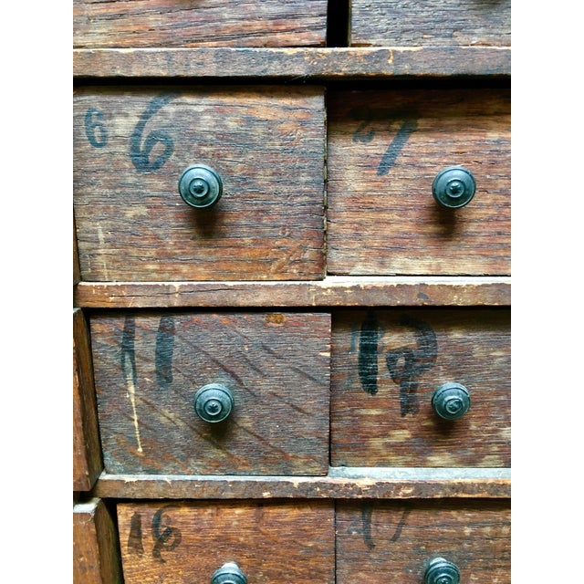 1920s Vintage Apothecary Cabinet For Sale - Image 6 of 9