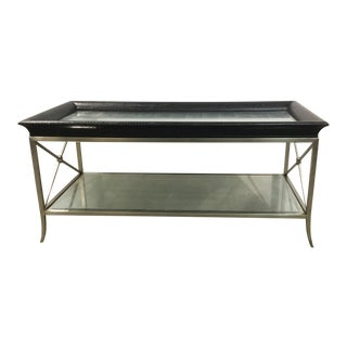Ferguson Copland Modern Eglomise Cocktail Table For Sale
