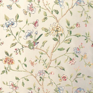 Sample - Schumacher Annabelle Vine Wallpaper in Pewter For Sale