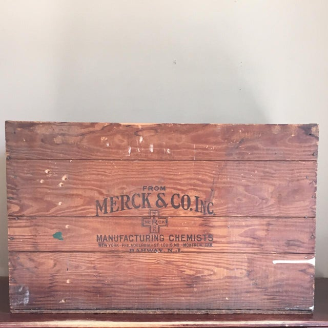 Antique Wooden Merck & Co. Crate - Image 3 of 8