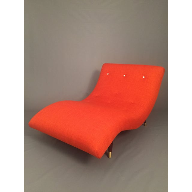 Adrian Pearsall Style Orange Wave Lounge Chaise - Image 2 of 11