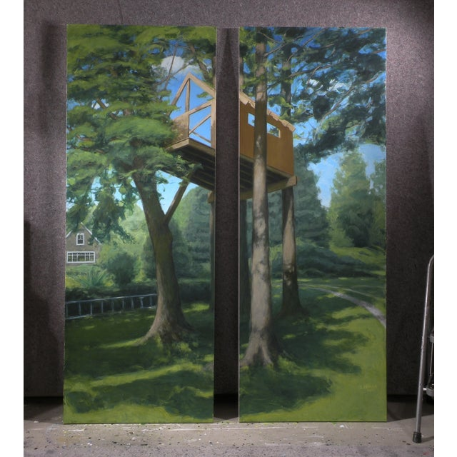 """""""Tree House ~ Looking Up"""" Contemporary Large Painting by Stephen Remick For Sale - Image 9 of 10"""