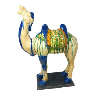 Vintage Scale Chinoiserie Style Camel Figure For Sale