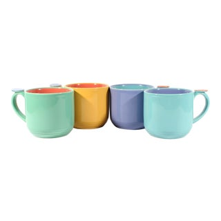 Lindt-Stymeist Colorways Memphis Style Mugs - Set of 4 For Sale