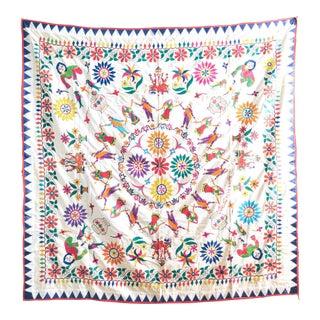 1950s Vintage Handmade Indian Wedding Tapestry For Sale