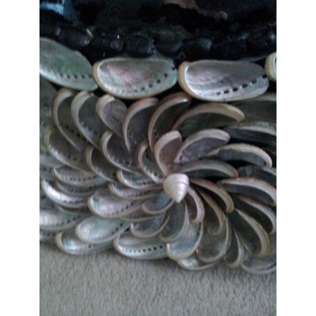 Abalones Shell Mirror With Antique Glass For Sale In Atlanta - Image 6 of 12