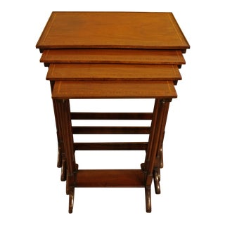 Edwardian Style Nesting Tables - Set of 4 For Sale