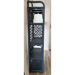 Antique Navy Lacquered Rattan Etageres Preview