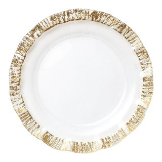 Kenneth Ludwig Chicago Rufolo Gold Rim Charger Plate For Sale